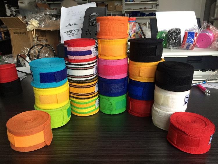 2pcs/roll Width 5cm Length 5M 100% Cotton Elastic Bandage Straps Boxing Gloves Sanda Muaythai Bandage MMA Fighting Gloves(China (Mainland))
