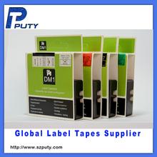 Black on Blue D1 label compatible DYMO label tape 53716