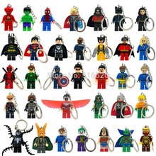 Marvel Super Heroes Keychains Minifigures Key Chain Star Wars Keychain Batman Key Ring Ninja Blocks Toys For Childen(China (Mainland))