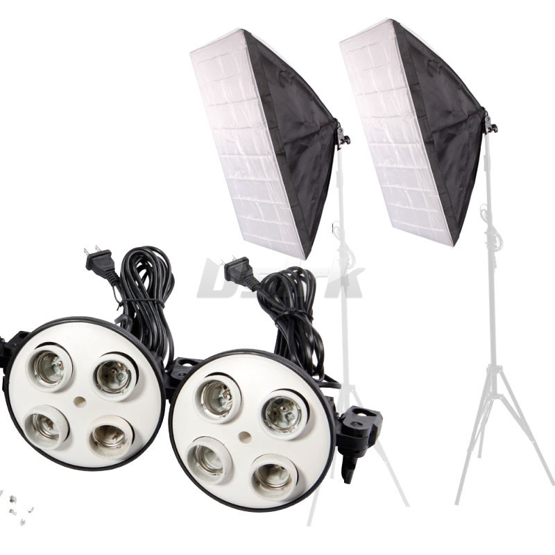 50CMx70CM 1 to 4 softbox+  lamp holder for E27 lamps Photo Studio Free shipping <br><br>Aliexpress
