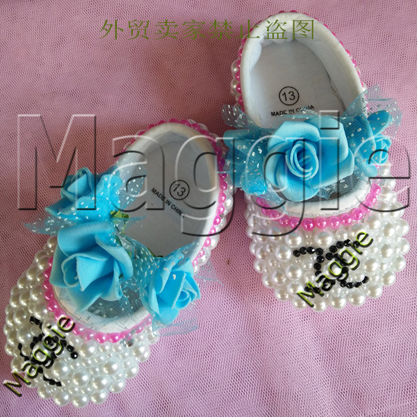 free shipping Blue flowers rhinestone baby First Walkers Shoes DIY baby toddler bling lovely crystal child kids girls shoes<br><br>Aliexpress