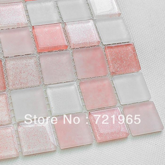 Crystal glass mosaic glass mosaic tile deco mesh glass mosaic kitchen backsplash tiles CGMT026 bathroom wall tiles glass mosaic
