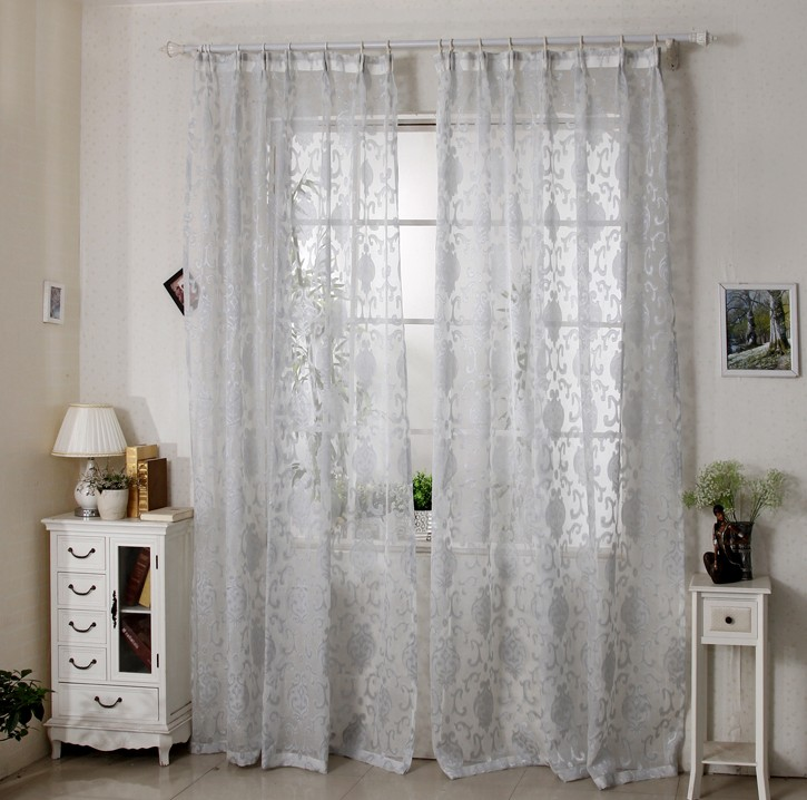 Eyelet Bedroom Curtains Curtains Bedroom Living Room Jacquard Voile French Window Curtains