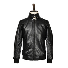 VOBOOM Winter Autumn Men PU Leather Jackets Brand New Stand Up Collar Motorcycle Faux Jackets YJ003(China (Mainland))