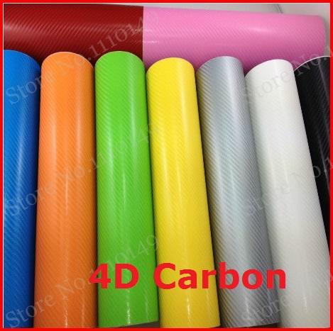 1 pc 1.52MX0.5M 4D carbon fiber vinyl film , texture 4D carbon fibre sticker , 4D car sticker with bubble free FREE SHIPPING(China (Mainland))