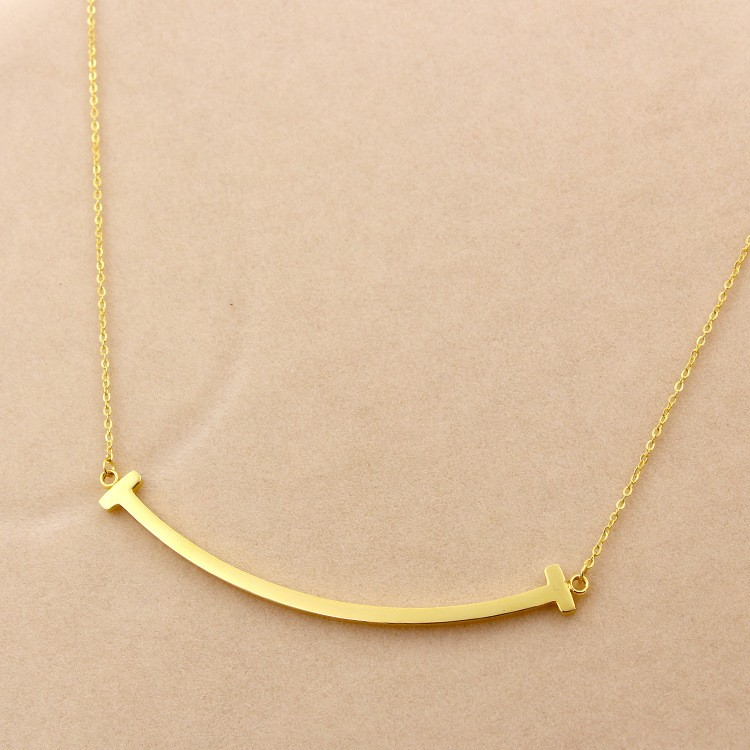 316L-Stainless-Steel-Smiling-Face-T-Letter-Shape-Pendant-Necklace-Chain-Necklace-For-Women-Present-Never (4)