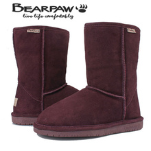 HOT SALE Bear Paw Bearpaw 5825 Fur one piece Cowhide Wool Snow Boots Knee-high Mid-leg Boots Cow Muscle Outsole BEARPAW Boots(China (Mainland))