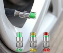 alert tire valve caps car air cap auto accessories stainless steel 4bar 4pieces/set Large in stock wheel tyre pressure indicator