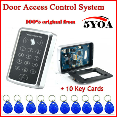 Special Price Free shipping+10 rfid tag+RFID Proximity Card Access Control System RFID/EM Keypad Card Access Control Door Opener(China (Mainland))