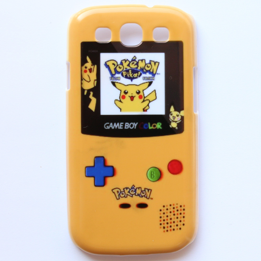 Pokemon GameBoy Game Boy Yellow Pattern Hard Back Cover Case For Samung S III Galaxy I93OO(China (Mainland))