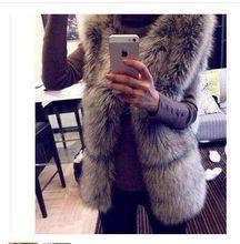 New 2015 Spring Coat Women Fashion Import Overcoat Whole Peel Fox Fur Vest High-Grade Cappa Fur Coat Leisure Shitsuke Women Coat(China (Mainland))