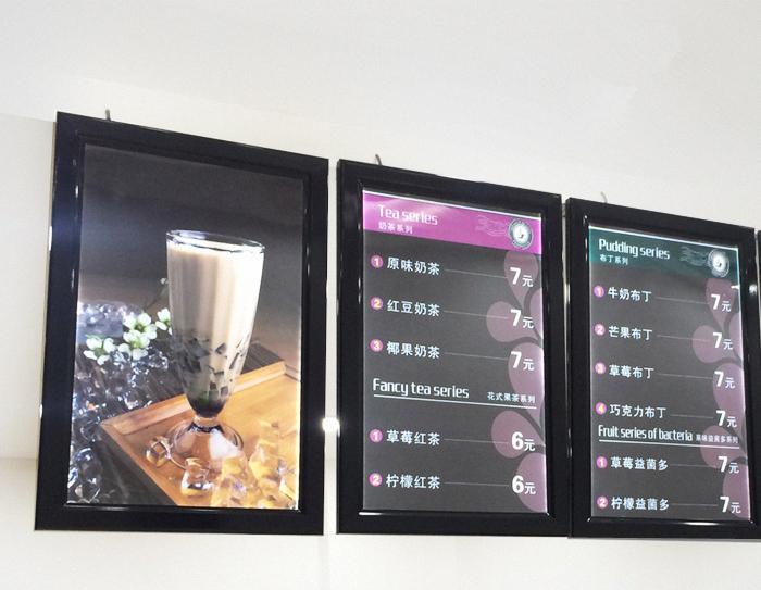 Hot Sale Outdoor Snap Frame A1 Photo LED Illuminated Sign Lightbox Black Colour Frame Restaurant Menu Display Board(China (Mainland))
