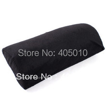 Free Shipping Black Hand Cushion Nail Art Manicure Half Column Arm Rest Pillow Cotton Tool(China (Mainland))