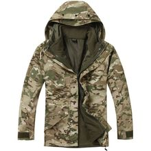 NEW G8 Waterproof Windbreaker 2 in 1 Jacket STEALTH CAMO HUNTERS JACKET tree camouflage(China (Mainland))