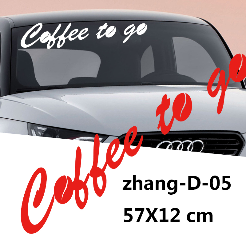 New Arrival Car Sticker Coffee To Window Advertising Vinily Motorcycle Window Bumper Artisitc Decorations JDM(China (Mainland))