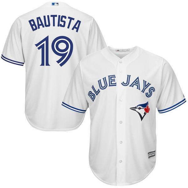 Jose Bautista Toronto Blue Jays Majestic Cool Base Player Jersey - White Men's Baseball Jersey(China (Mainland))
