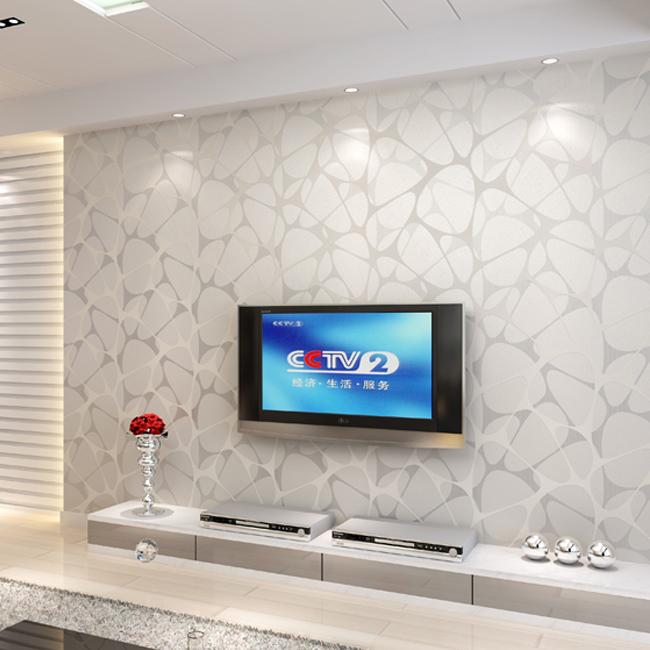 Geometric wallpaper modern for living room non woven wall for Wallpaper roll for walls