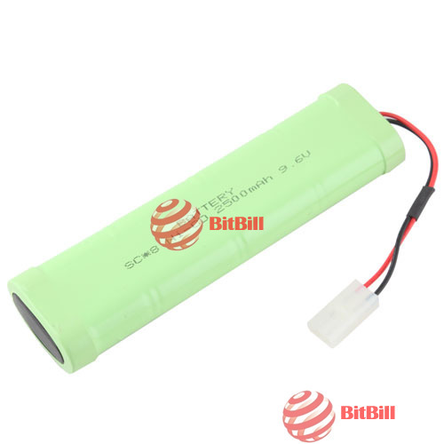 bitbill original barnd Practical 9.6V 2500mAh SC NICD Rechargeable Battery Pack for RC Tank Car Airsoft best choice(China (Mainland))