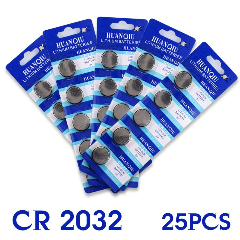 Button battery 25 Pcs 3V Lithium Coin Cells Button Battery Board ECR2032 CR2032 DL2032 KCR2032 EE6281<br><br>Aliexpress