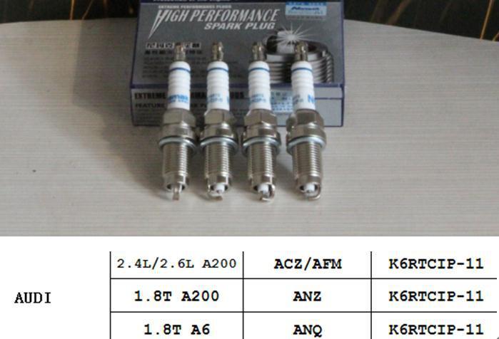 Replacement Parts Platinum iridium spark glow plugs for audi A200 A6 1 8T 2 4L ACZ