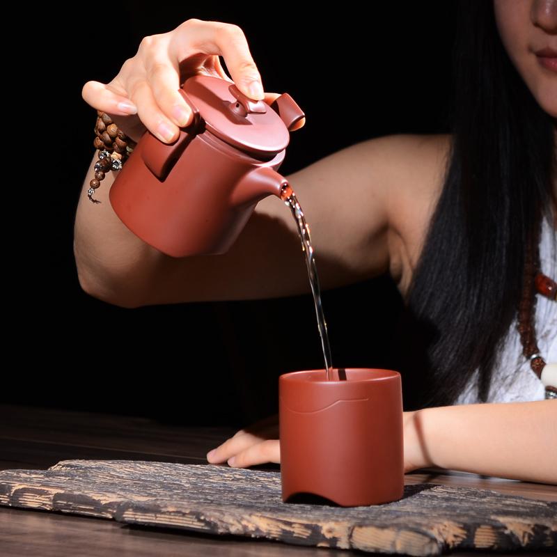 Boutique Yixing zisha tea set purple grit high quality tea pot cup travel set kung fu teapots teacups in bigger volume gift(China (Mainland))