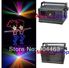 DHL 1.5w 1500mW rgb full color animation laser light DJ stage light High Speed Scanner 30kpps with flight case(China (Mainland))