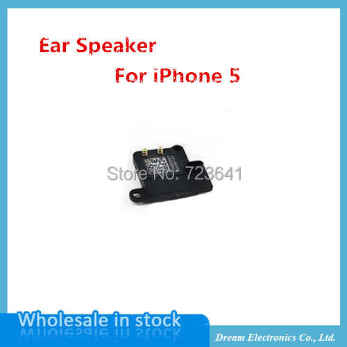 50pcs/lot NEW High Quality Ear Piece Earpiece Speaker for iPhone 5 5G Flex Cables replace parts wholesale free shipping(China (Mainland))