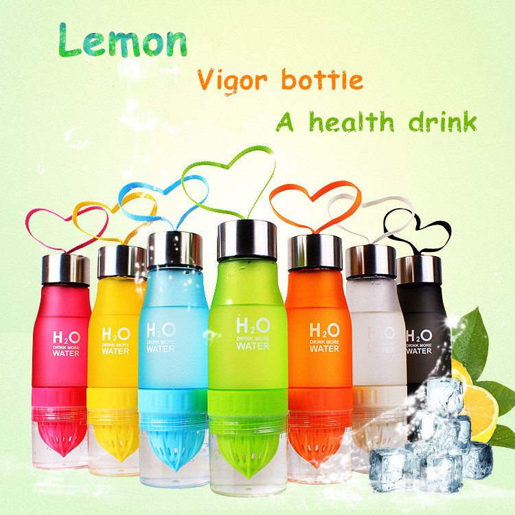 Camping Colorful Health Water Infuser Lemon Juice Bottle Shaker Frosted Plastic Juices Fruit Bottles Whey Protein Mugs Outdoor(China (Mainland))