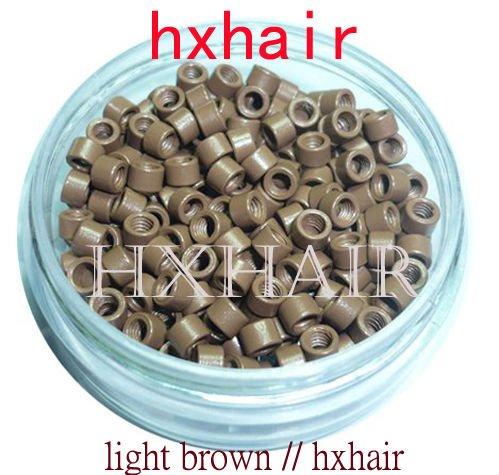 Freeshipping - 10000pcs 4.0mm Micro Aluminium Rings With Screw / Links Beads / Black D-Brown Brown L-Brown Blonde Auburn<br><br>Aliexpress