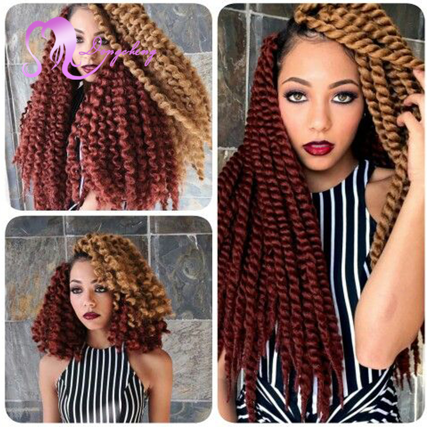 Crochet Hair Pieces : Piece Only 12strsnds/pcsTwist Crochet Hair Extensions Curly Style ...