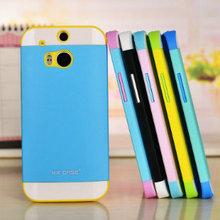 10pcs/Lot NX Shock Proof Soft Hybrid Combo Armor Protector Cover Case for HTC M8 5.0 inch 6 Colors Retail Box Pack for Resell(China (Mainland))
