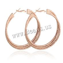 Free shipping Factory price sale statemet new 2014 men sexy charms jewelry for real rose gold plated Donut Brass Hoop Earring(China (Mainland))
