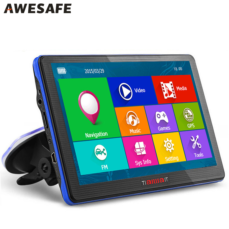 HD 7 inch Portable Car GPS Navigation System Units FM 8GB/ 256M /800MHZ Map For Europe/USA+Canada Lifetime Maps and Traffic(China (Mainland))