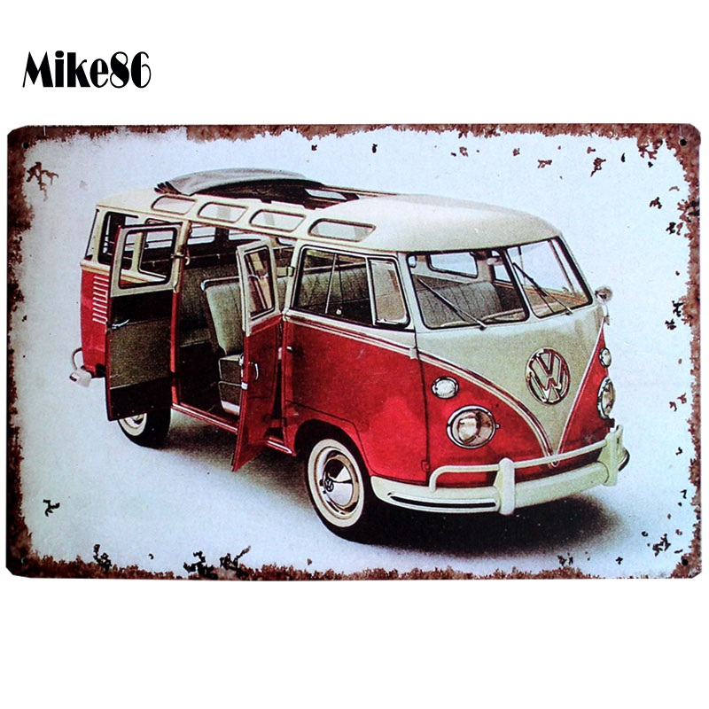 [ Mike86 ] New VW Bus Antique Metal Poster Room Art Painting Tin sign Vintage Bar Home Party Gift Festival Decor 20X30 CM AA-509(China (Mainland))