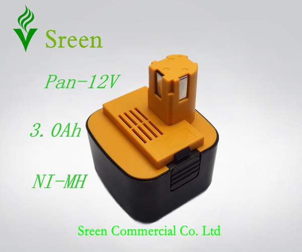 New 12V NI-MH 3.0Ah Replacement Power Tool Rechargeable Battery for Panasonic EY9101 EY9200 EY9200B EY9201 EY9001 EY9108 EY9201B(China (Mainland))