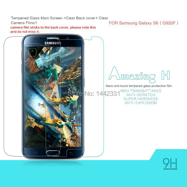 1x Amazing Nanometer H Anti-Explosion Tempered Glass Screen Protector Film Samsung Galaxy S6 G9200 G920 G920F - Toys!Daddy! store