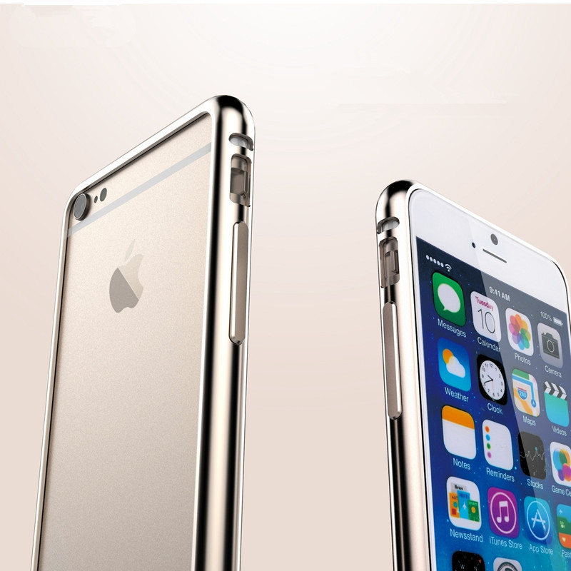 Hot!Aluminum Bumper For Apple iphone 6 4.7 inch bumper Luxury Space No Screw Metal Buckle Phone For iphone6 Gold Yellow YXF04363(China (Mainland))
