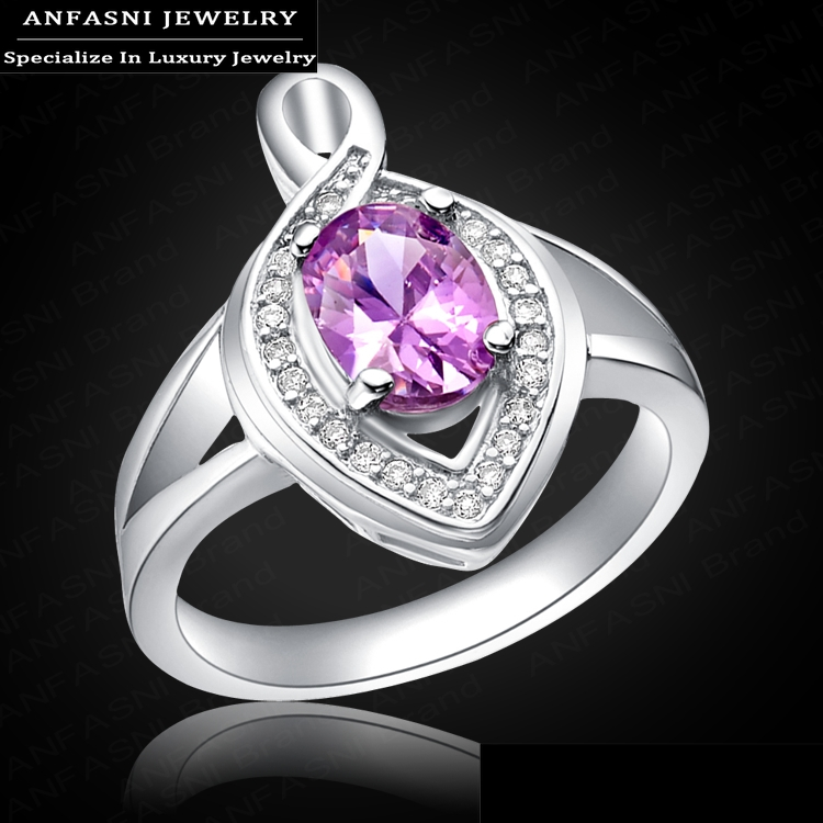 classic design wedding rings real platinum plated oval cut