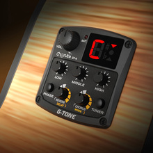 New Cherub GT-6 G-Tone Acoustic Guitar Preamp Piezo Pickup 3-Band EQ Equalizer LCD Tuner with Reverb/Delay/Chorus/Wide Effects(China (Mainland))