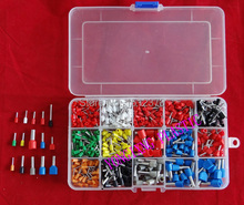 675 PCS/box cable connector splice  insulated terminal block kit  wire cable ferrules crimp Pin end terminal  from 22-4AWG(China (Mainland))