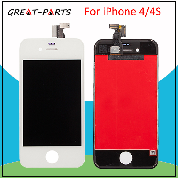 20PCS 100% Top Quanlity For iPhone 4 For iPhone 4S LCD Display Touch Screen Digitizer Replacement Assembly Frame Free Shipping(China (Mainland))
