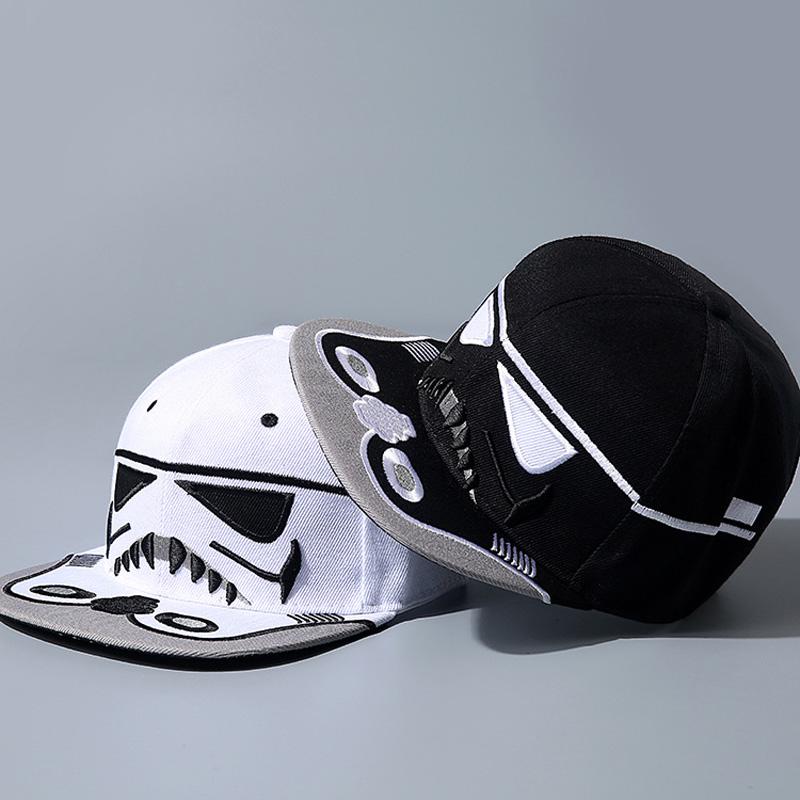 wholesale New Hot boy Kids Hat Star Wars cartoon pattern Letter sunhat Cap fashion adjustable black White Hip-hop Hats For boy(China (Mainland))