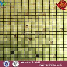 crystal golden diamond mix aluminum panel mosaic tile