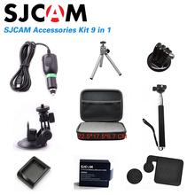 Sj4000 Accessories EVA Collecting Box+Monopod+Tripod Mount+Lens Cap+Tripod+charger for sj4000 or sjcam sj4000 wifi sport Camera