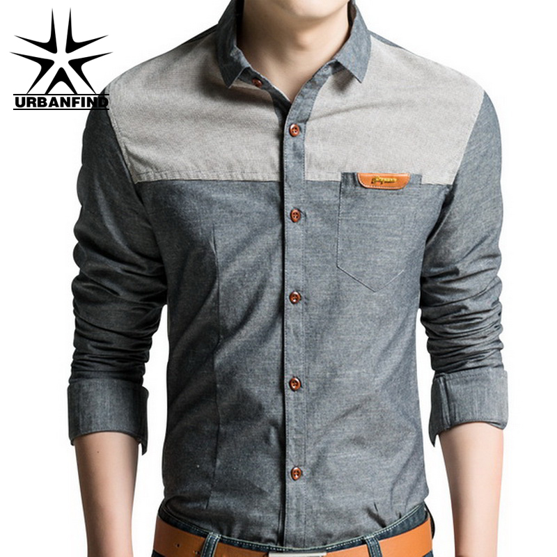 Urbanfind hot sale man casual slim shirt size m 4xl good for Mens designer casual shirts sale