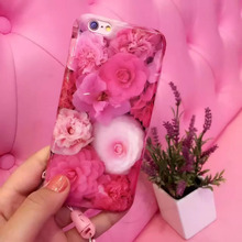 Luxury Colorful Flower Sunflower Daisy Peony Phone Case For iphone 6 6S 6Plus Soft TPU Silicon IMD Back Cover Coque Fandas capa