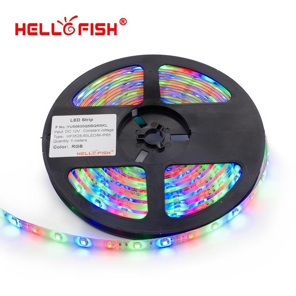 Hello Fish 5m waterproof 300LED 3528 LED strip, 12V flexible light 60led/m LED tape, RGB/white/warm white/blue/green/red/yellow(China (Mainland))