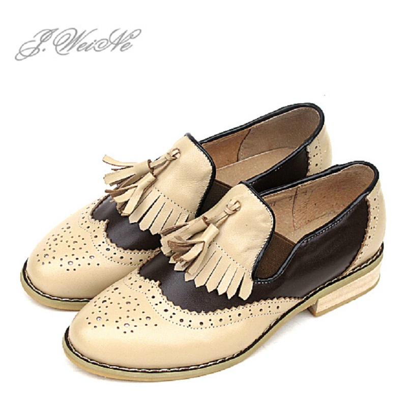 new fashion 2015 genuine leather loafers womens casual