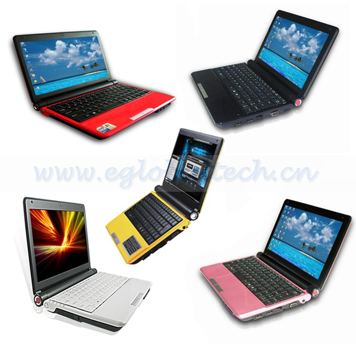 "10"" Colorful Fashion Laptop Computer 4G DDR3, 500G HDD, Mini PC Notebook Intel Atom D2500 WIFI Low Price Laptops 1.3M Camera(China (Mainland))"