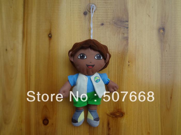 Free Shipping 5/Lot Dora the Explorer Go Diego Go Plush Dolls Toy Retail(China (Mainland))